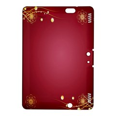 Red Background With A Pattern Kindle Fire Hdx 8 9  Hardshell Case by Amaryn4rt