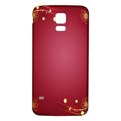Red Background With A Pattern Samsung Galaxy S5 Back Case (white)