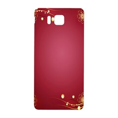 Red Background With A Pattern Samsung Galaxy Alpha Hardshell Back Case by Amaryn4rt