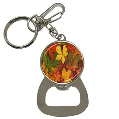 Colorful Autumn Leaves Leaf Background Button Necklaces by Amaryn4rt