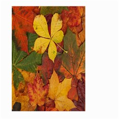 Colorful Autumn Leaves Leaf Background Large Garden Flag (two Sides) by Amaryn4rt