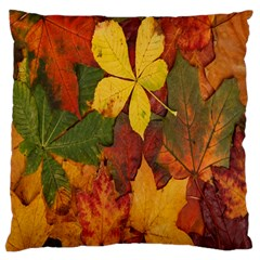 Colorful Autumn Leaves Leaf Background Large Cushion Case (two Sides) by Amaryn4rt