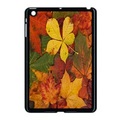 Colorful Autumn Leaves Leaf Background Apple Ipad Mini Case (black) by Amaryn4rt