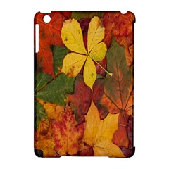 Colorful Autumn Leaves Leaf Background Apple Ipad Mini Hardshell Case (compatible With Smart Cover) by Amaryn4rt