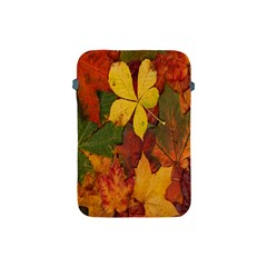 Colorful Autumn Leaves Leaf Background Apple Ipad Mini Protective Soft Cases by Amaryn4rt