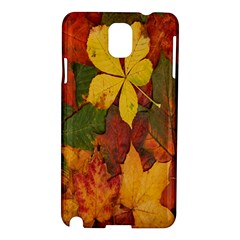 Colorful Autumn Leaves Leaf Background Samsung Galaxy Note 3 N9005 Hardshell Case by Amaryn4rt