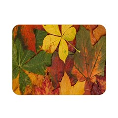Colorful Autumn Leaves Leaf Background Double Sided Flano Blanket (mini)  by Amaryn4rt