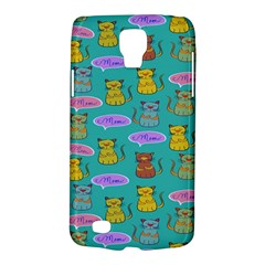 Meow Cat Pattern Galaxy S4 Active by Amaryn4rt