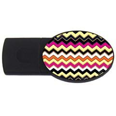 Colorful Chevron Pattern Stripes Usb Flash Drive Oval (2 Gb) by Amaryn4rt