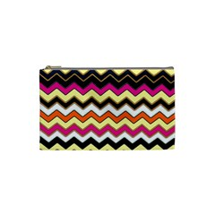 Colorful Chevron Pattern Stripes Cosmetic Bag (small)  by Amaryn4rt