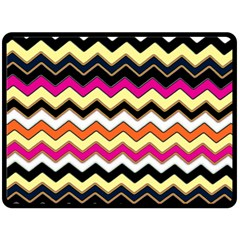 Colorful Chevron Pattern Stripes Fleece Blanket (large)  by Amaryn4rt