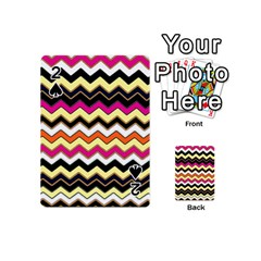 Colorful Chevron Pattern Stripes Playing Cards 54 (mini)  by Amaryn4rt