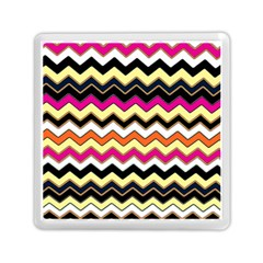 Colorful Chevron Pattern Stripes Memory Card Reader (square)  by Amaryn4rt