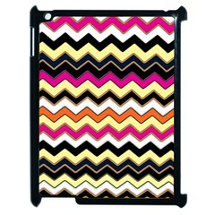Colorful Chevron Pattern Stripes Apple Ipad 2 Case (black) by Amaryn4rt