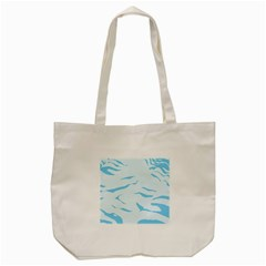 Blue Tiger Animal Pattern Digital Tote Bag (cream)