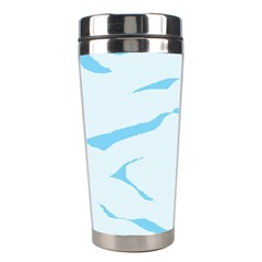 Blue Tiger Animal Pattern Digital Stainless Steel Travel Tumblers by Amaryn4rt