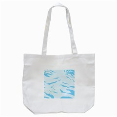 Blue Tiger Animal Pattern Digital Tote Bag (white) by Amaryn4rt