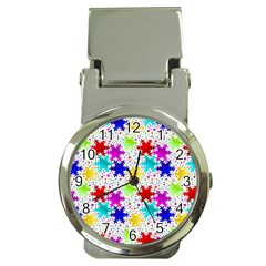 Snowflake Pattern Repeated Money Clip Watches by Amaryn4rt