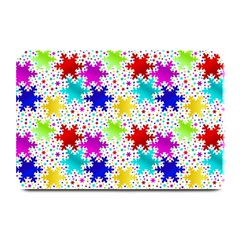 Snowflake Pattern Repeated Plate Mats by Amaryn4rt