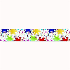 Snowflake Pattern Repeated Small Bar Mats by Amaryn4rt
