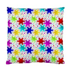 Snowflake Pattern Repeated Standard Cushion Case (one Side) by Amaryn4rt