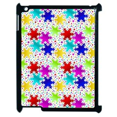 Snowflake Pattern Repeated Apple Ipad 2 Case (black) by Amaryn4rt