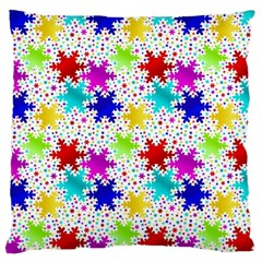 Snowflake Pattern Repeated Large Cushion Case (one Side) by Amaryn4rt