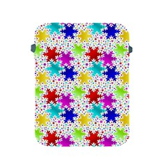 Snowflake Pattern Repeated Apple Ipad 2/3/4 Protective Soft Cases by Amaryn4rt