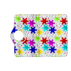 Snowflake Pattern Repeated Kindle Fire Hd (2013) Flip 360 Case by Amaryn4rt