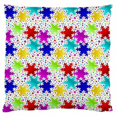 Snowflake Pattern Repeated Large Flano Cushion Case (one Side) by Amaryn4rt