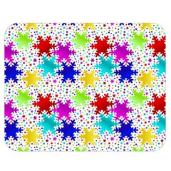 Snowflake Pattern Repeated Double Sided Flano Blanket (medium)  by Amaryn4rt