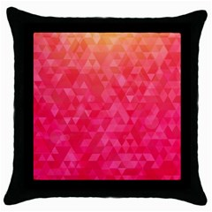 Abstract Red Octagon Polygonal Texture Throw Pillow Case (black) by TastefulDesigns