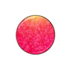 Abstract Red Octagon Polygonal Texture Hat Clip Ball Marker (4 Pack) by TastefulDesigns