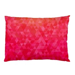 Abstract Red Octagon Polygonal Texture Pillow Case by TastefulDesigns