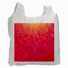 Abstract Red Octagon Polygonal Texture Recycle Bag (one Side) by TastefulDesigns