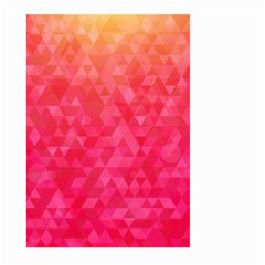 Abstract Red Octagon Polygonal Texture Large Garden Flag (two Sides) by TastefulDesigns