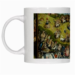 Hieronymus Bosch Garden Of Earthly Delights White Mugs by MasterpiecesOfArt