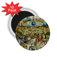 Hieronymus Bosch Garden Of Earthly Delights 2 25  Magnets (10 Pack)  by MasterpiecesOfArt