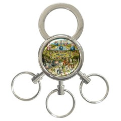 Hieronymus Bosch Garden Of Earthly Delights 3 Ring Key Chains by MasterpiecesOfArt