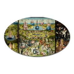 Hieronymus Bosch Garden Of Earthly Delights Oval Magnet by MasterpiecesOfArt