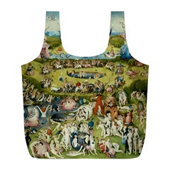 Hieronymus Bosch Garden Of Earthly Delights Full Print Recycle Bags (l)  by MasterpiecesOfArt
