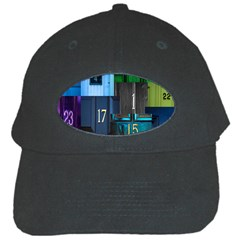 Door Number Pattern Black Cap by Amaryn4rt