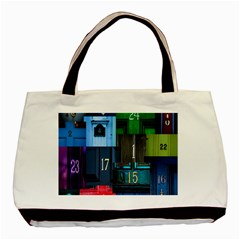 Door Number Pattern Basic Tote Bag by Amaryn4rt