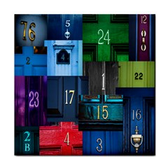 Door Number Pattern Face Towel by Amaryn4rt