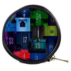 Door Number Pattern Mini Makeup Bags by Amaryn4rt