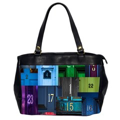 Door Number Pattern Office Handbags (2 Sides)  by Amaryn4rt