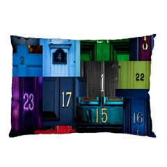 Door Number Pattern Pillow Case (two Sides) by Amaryn4rt