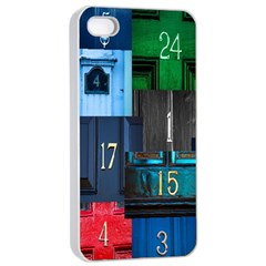 Door Number Pattern Apple Iphone 4/4s Seamless Case (white) by Amaryn4rt