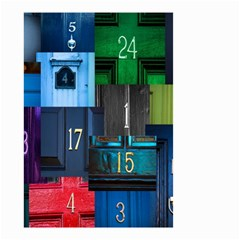 Door Number Pattern Small Garden Flag (two Sides) by Amaryn4rt