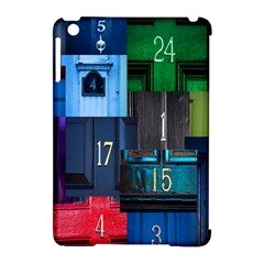 Door Number Pattern Apple Ipad Mini Hardshell Case (compatible With Smart Cover) by Amaryn4rt